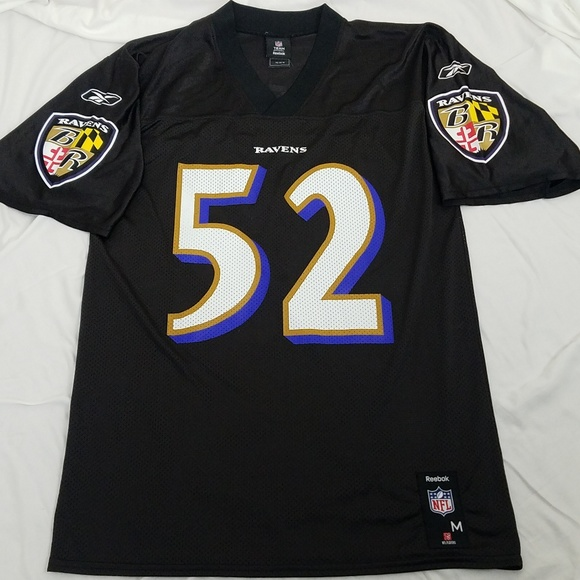 Baltimore Ravens Ray Lewis #52 Jersey Medium Black